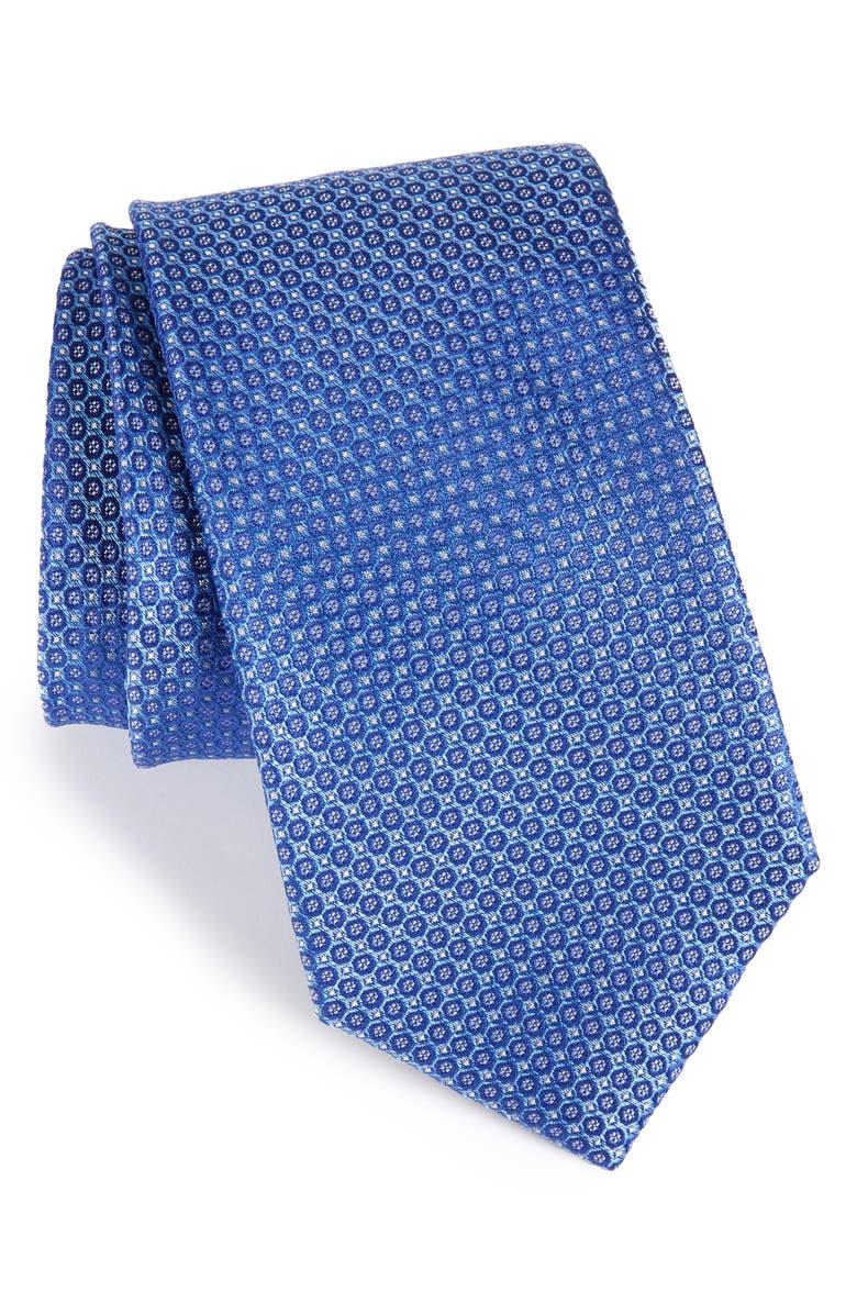 NORDSTROM MEN'S SHOP Park Ave Solid Silk Tie, Main, color, BLUE