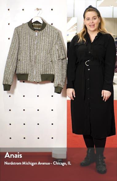 Manston Herringbone Wool Blend Bomber Jacket, sales video thumbnail