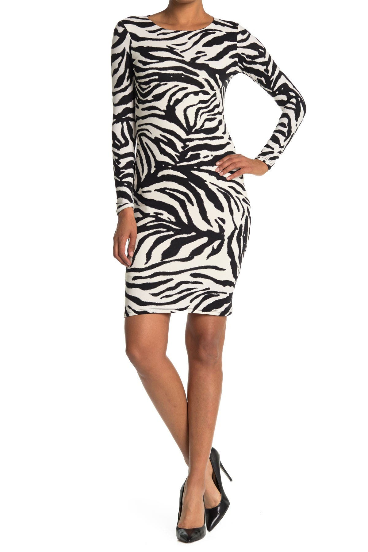 Image of Velvet Torch Zebra Midi Dress
