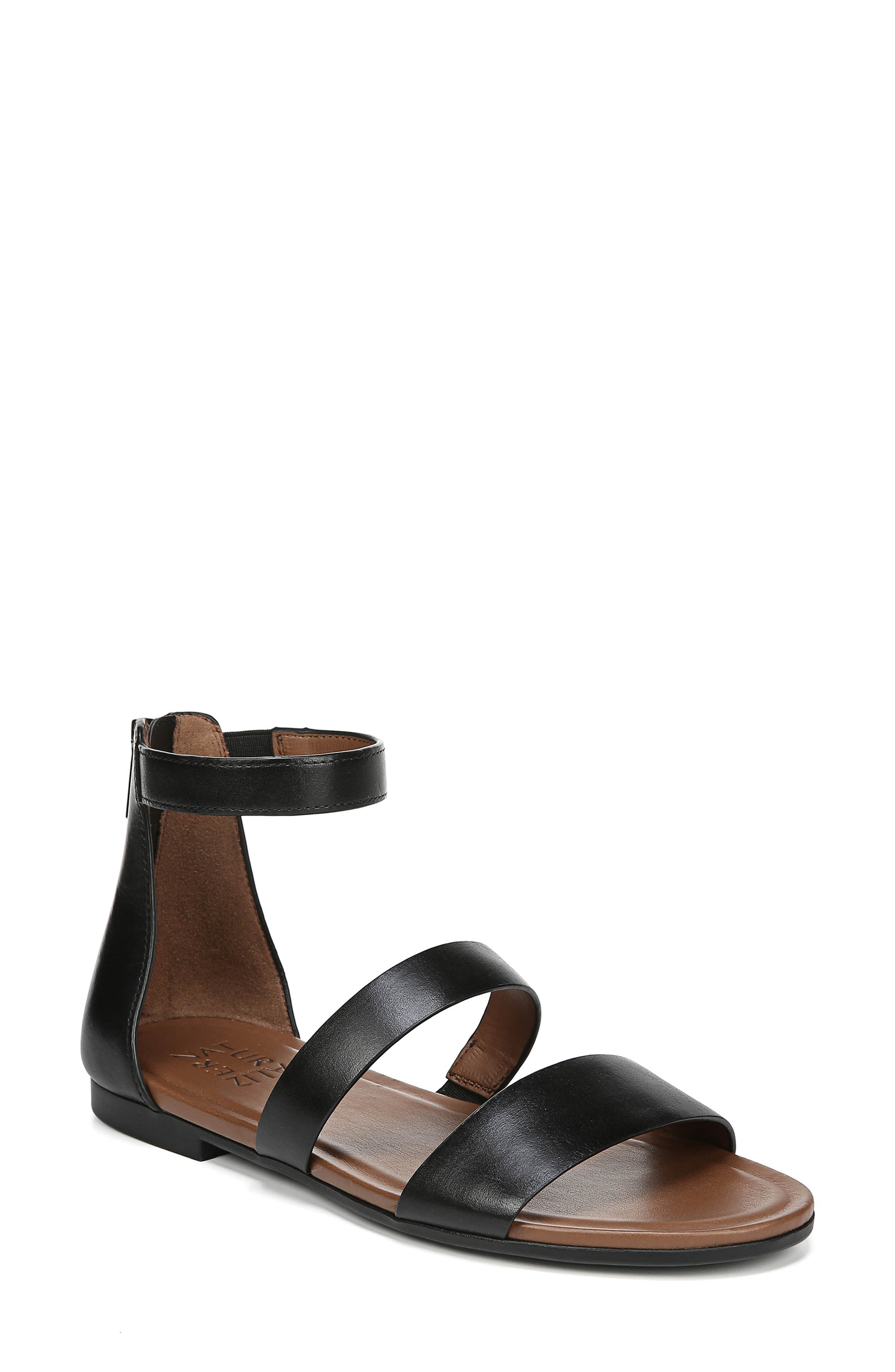 Tish Sandal, Main, color, BLACK LEATHER