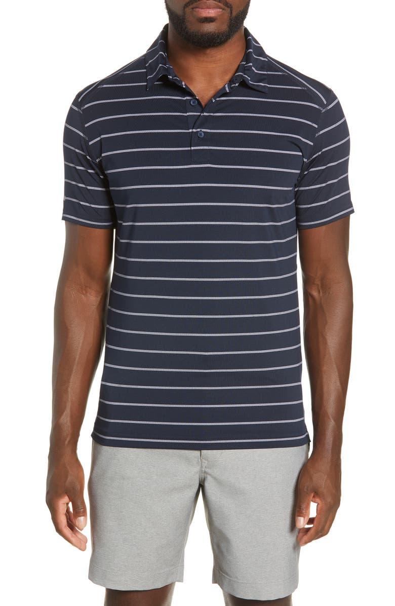 BONOBOS M-Flex Flatiron Slim Fit Stripe Golf Polo, Main, color, AUTUMN STRIPE