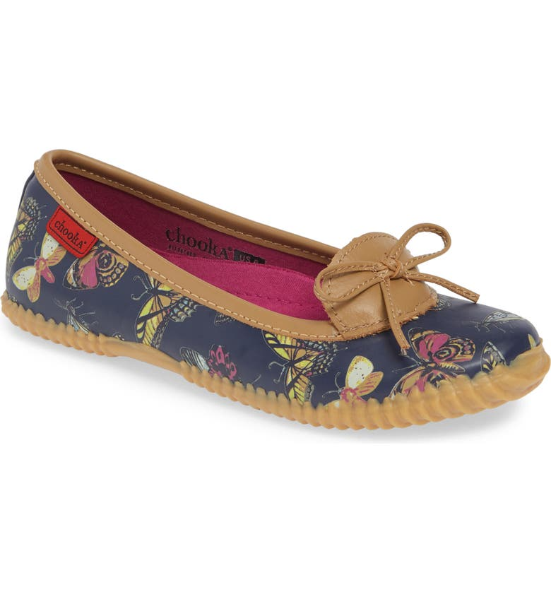 Chooka Butterfly Rain Skimmer Flat Women