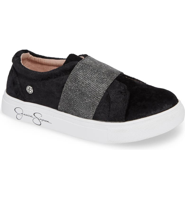 JESSICA SIMPSON Sparkle Slip-On Sneaker, Main, color, 001