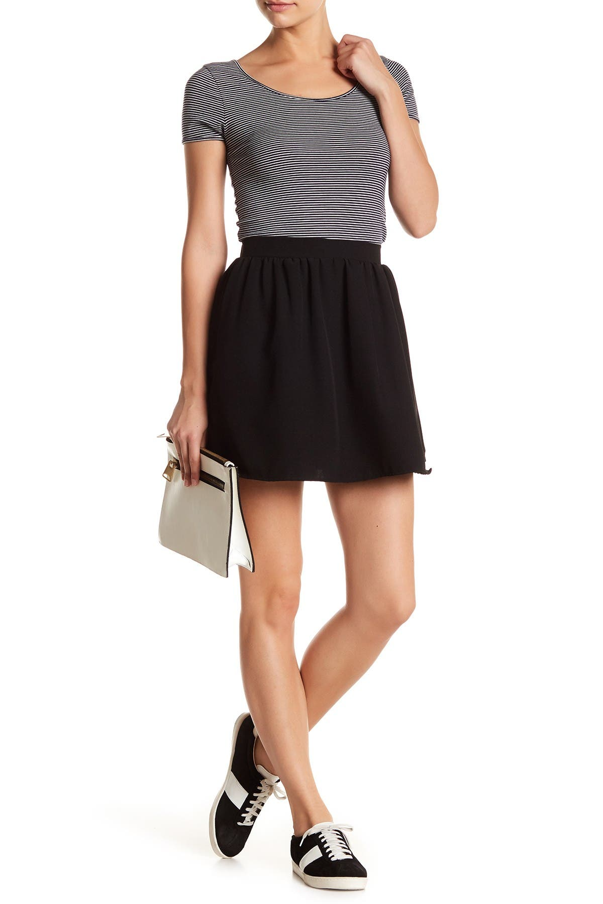 Image of Free Press Pleated Woven Skirt