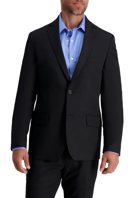 Image of Louis Raphael Skinny Fit Stretch Gabardine Solid Jacket