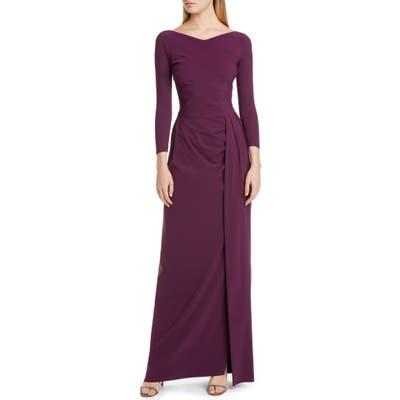 Chiara Boni La Petite Robe Litonya Uni Bracelet Sleeve Gown, US / 42 IT - Burgundy