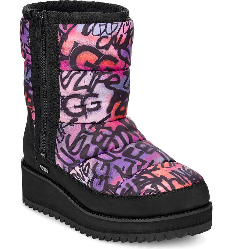 UGG<SUP>®</SUP> Ridge Graffiti Pop Waterproof Boot, Main, color, 650