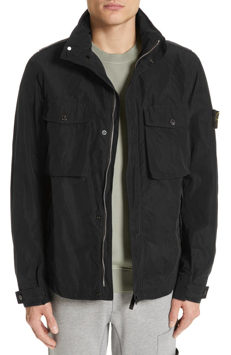 STONE ISLAND Micro Reps Jacket, Main, color, 001