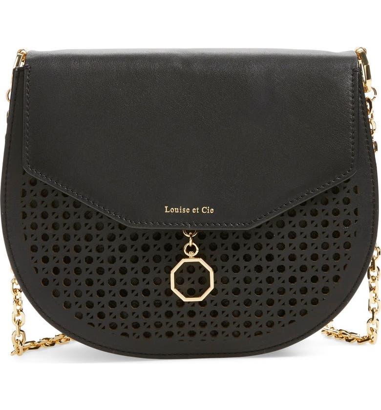 LOUISE ET CIE 'Jael' Leather Shoulder Bag, Main, color, 001