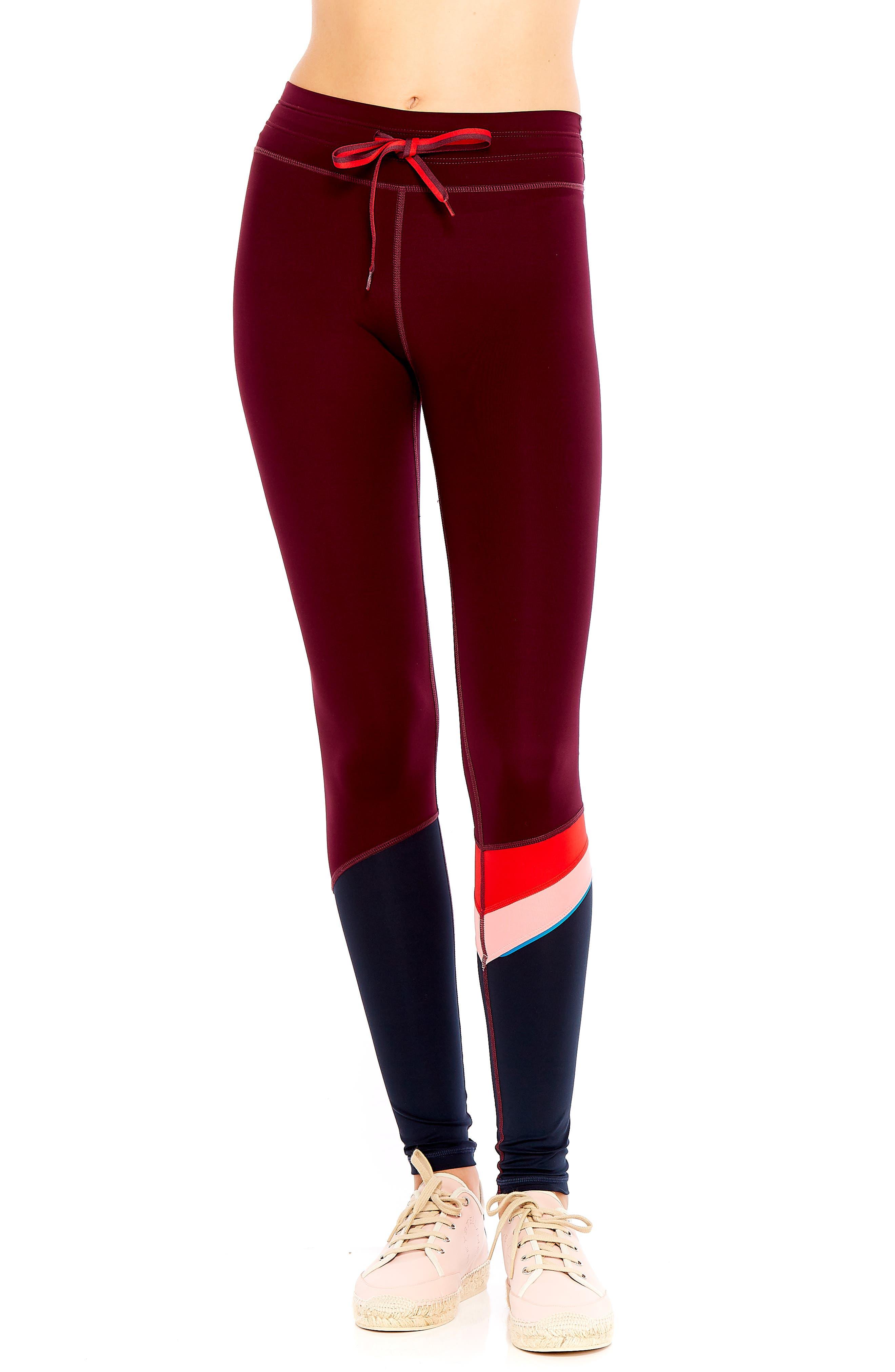 The Upside Maroon Retro Yoga Pants