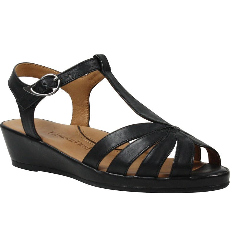 L'AMOUR DES PIEDS Boquin Sandal, Main, color, BLACK LEATHER