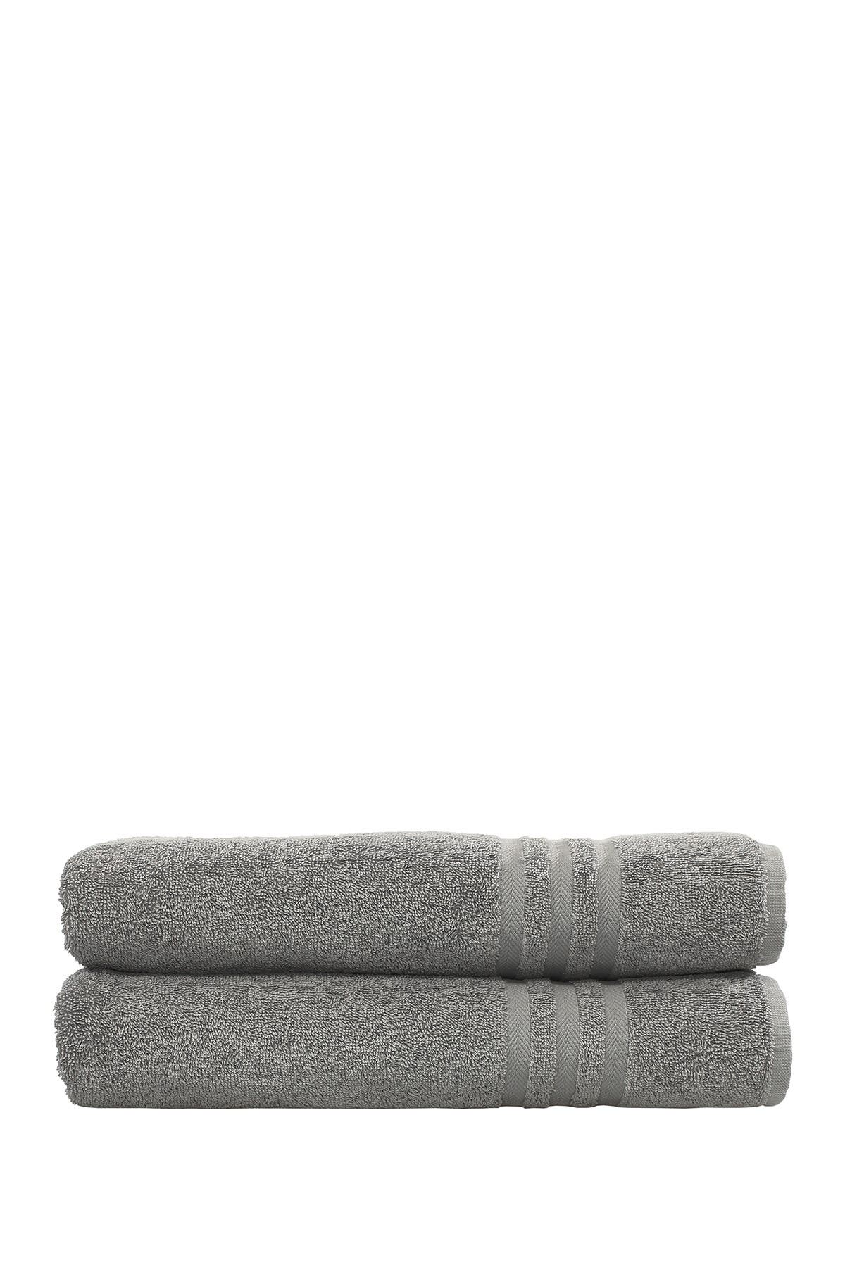 Image of LINUM HOME Denzi Bath Towels - Set of 2 - Dark Grey