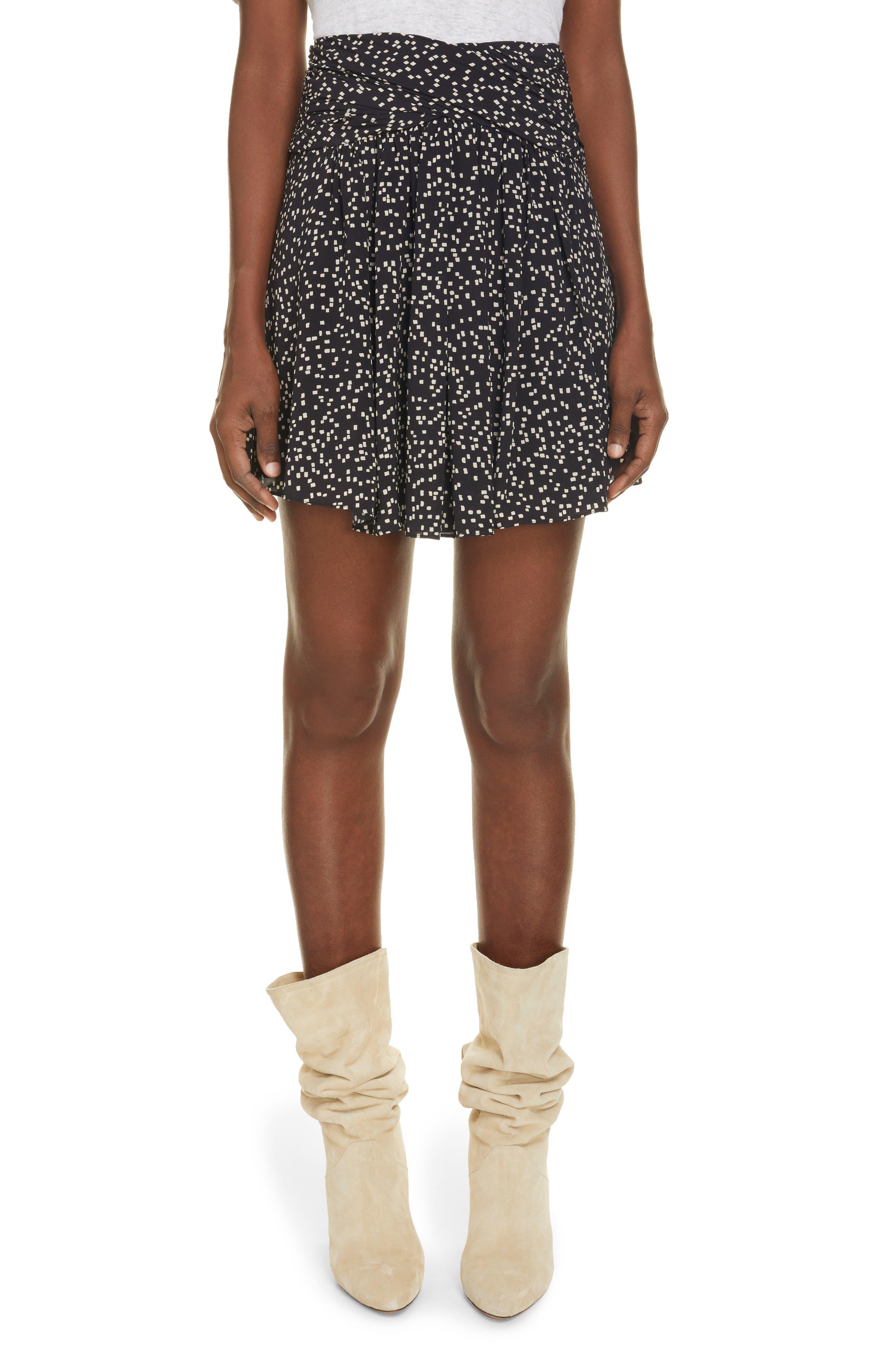 Women's Isabel Marant Etoile Calista Square Dot Print Skirt