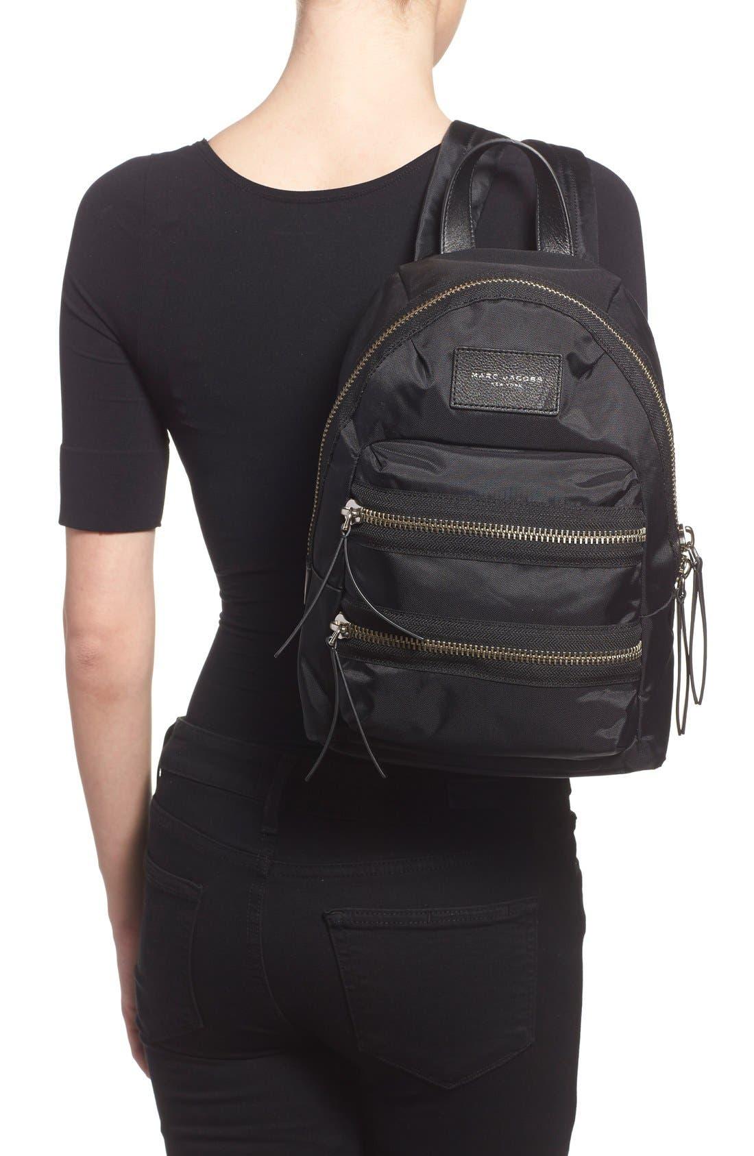 ,                             'Mini Biker' Nylon Backpack,                             Alternate thumbnail 2, color,                             001