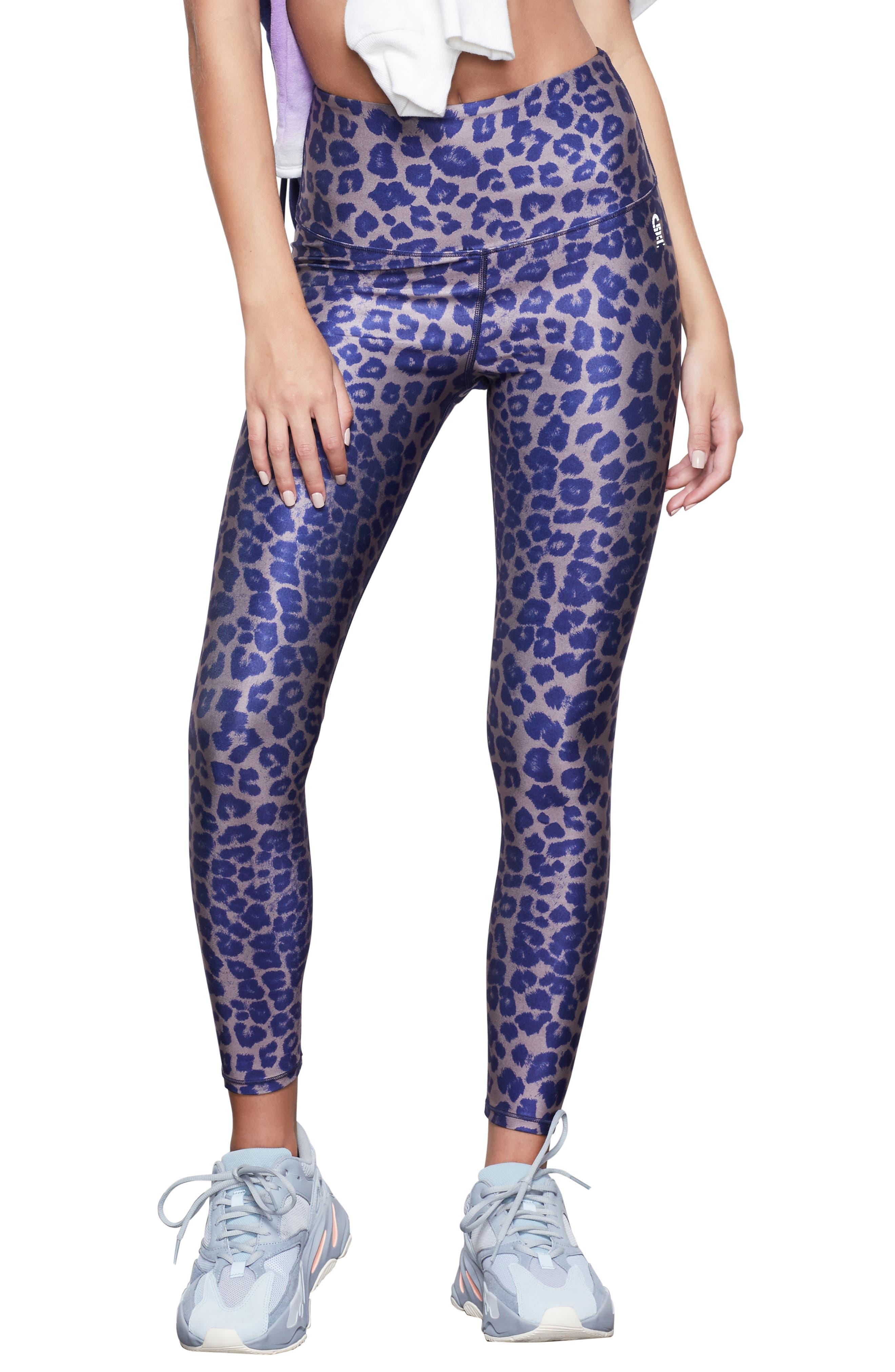 Image of Good American Leopard Print High Waist Leggings
