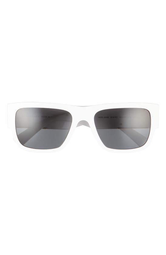 Versace Men's Square Sunglasses, 56mm In White/ Dark Grey