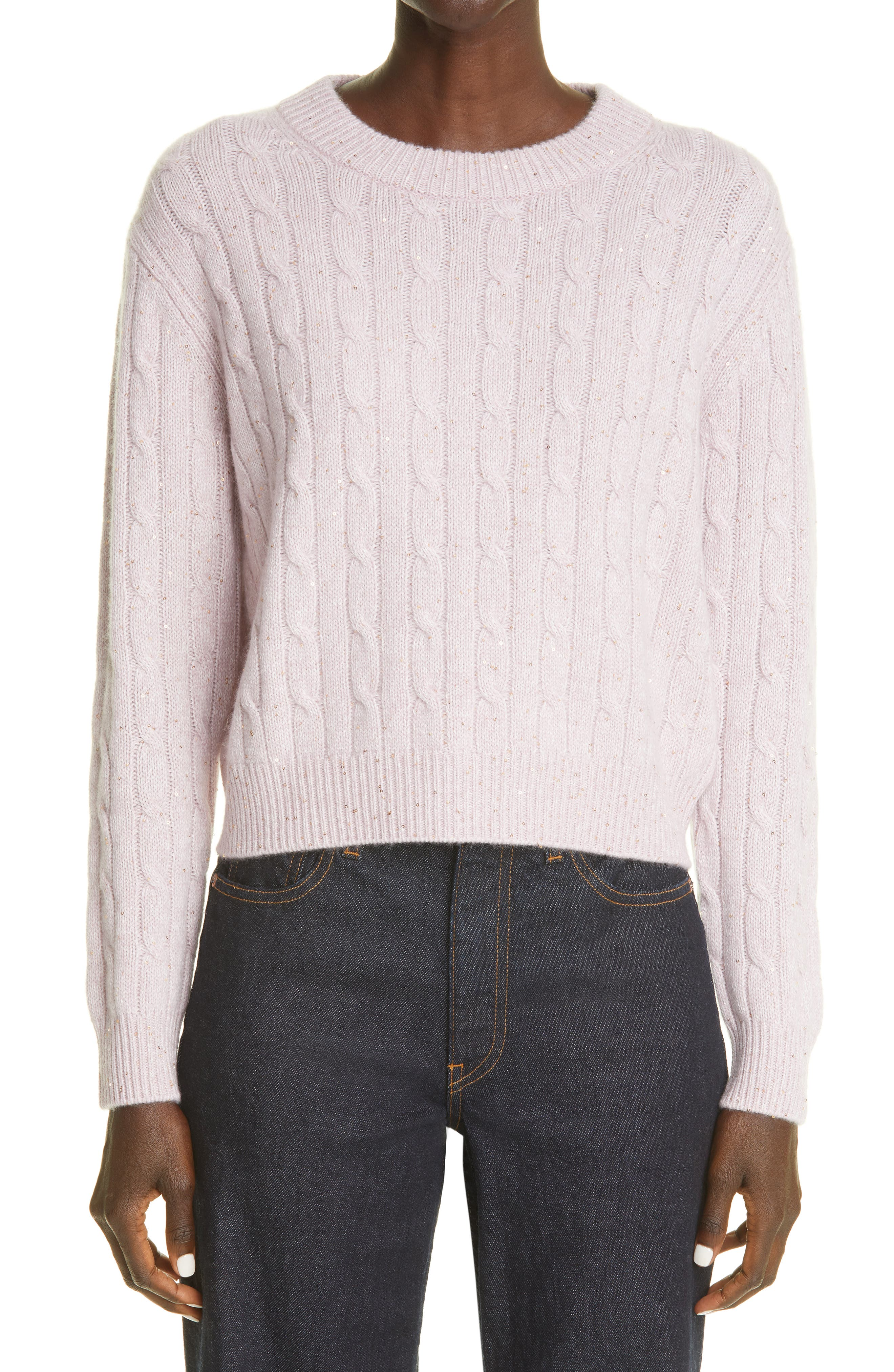Clover News Cable Cashmere Blend Sweater