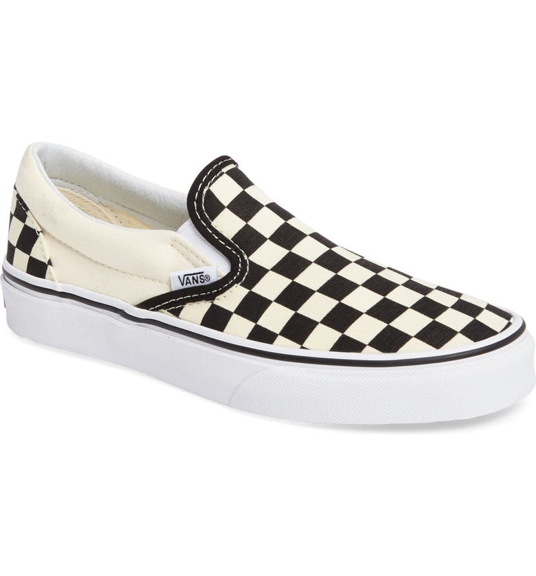 VANS Classic Slip-On Sneaker, Main, color, BLACK WHITE CHECKER