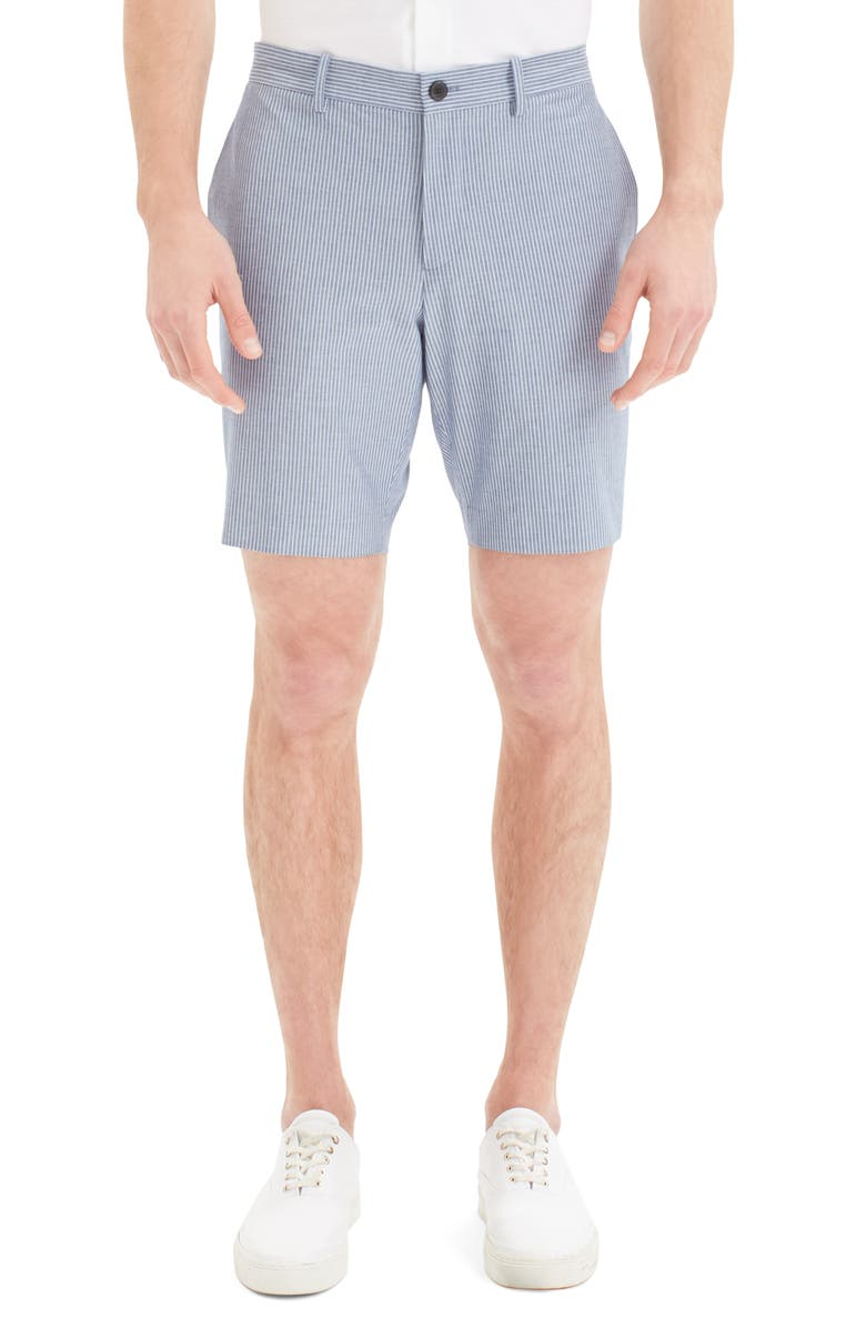 THEORY Zaine S Slim Fit Stripe Oxford Shorts, Main, color, 481