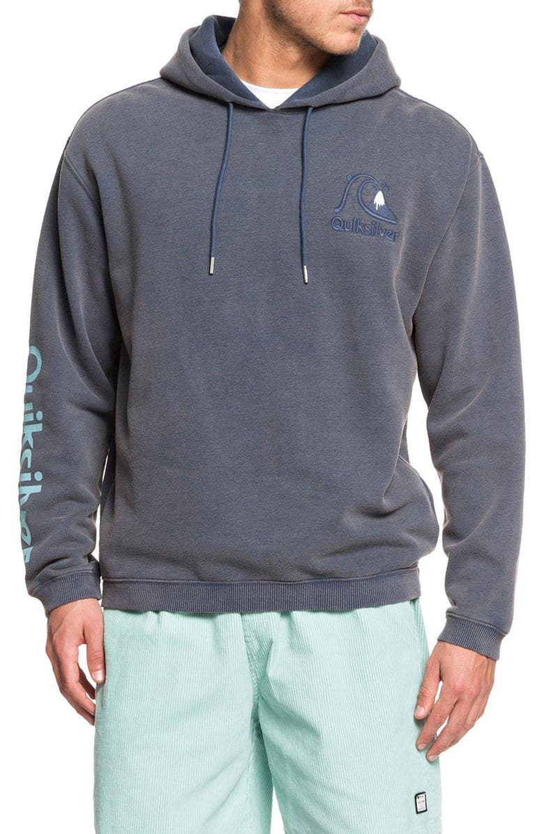 QUIKSILVER Sweet as Slab Pullover Hoodie, Main, color, MOONLIT OCEAN