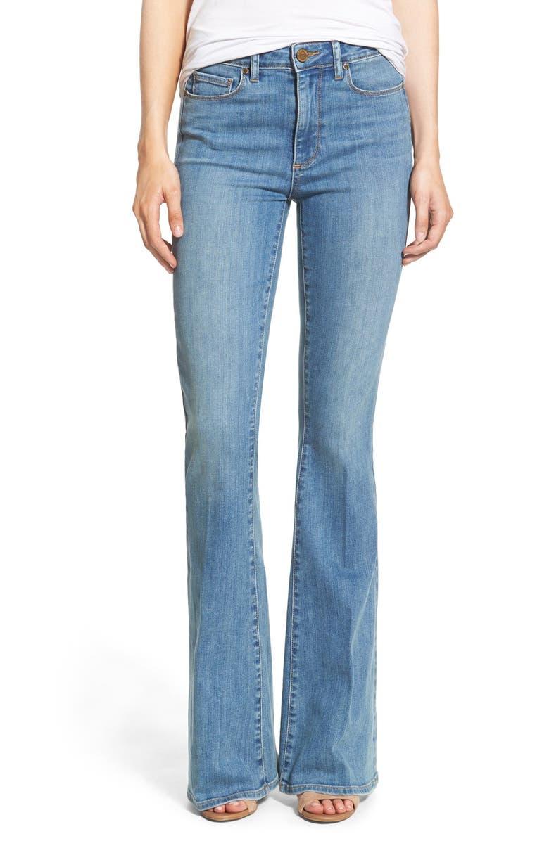 PAIGE Denim 'Lou Lou' Flare Jeans, Main, color, 400