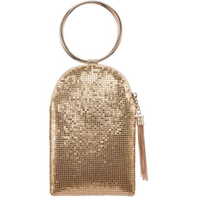 Nina Metallic Mesh Handbag - Metallic