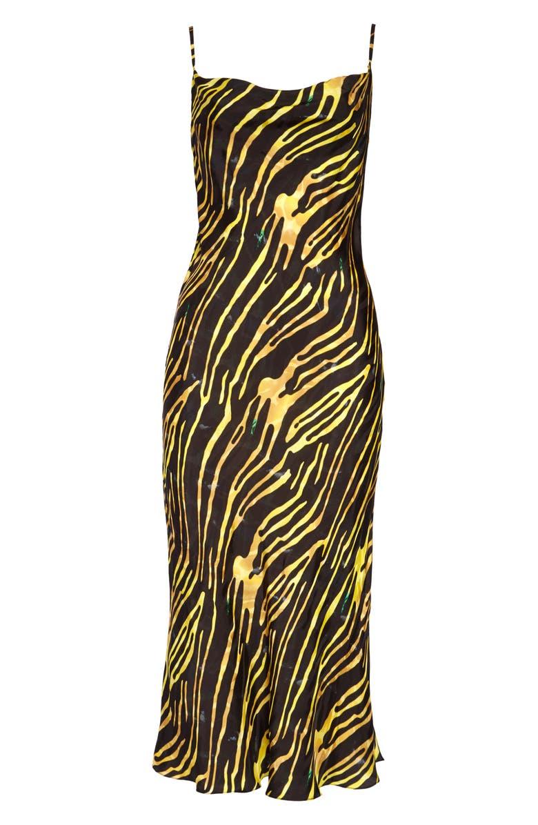 MARINE SERRE Bias Cut Slipdress, Main, color, 001