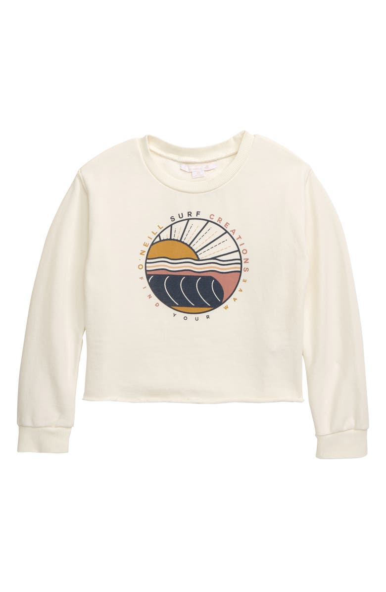 O'NEILL Jules Sweatshirt, Main, color, WINTER WHITE