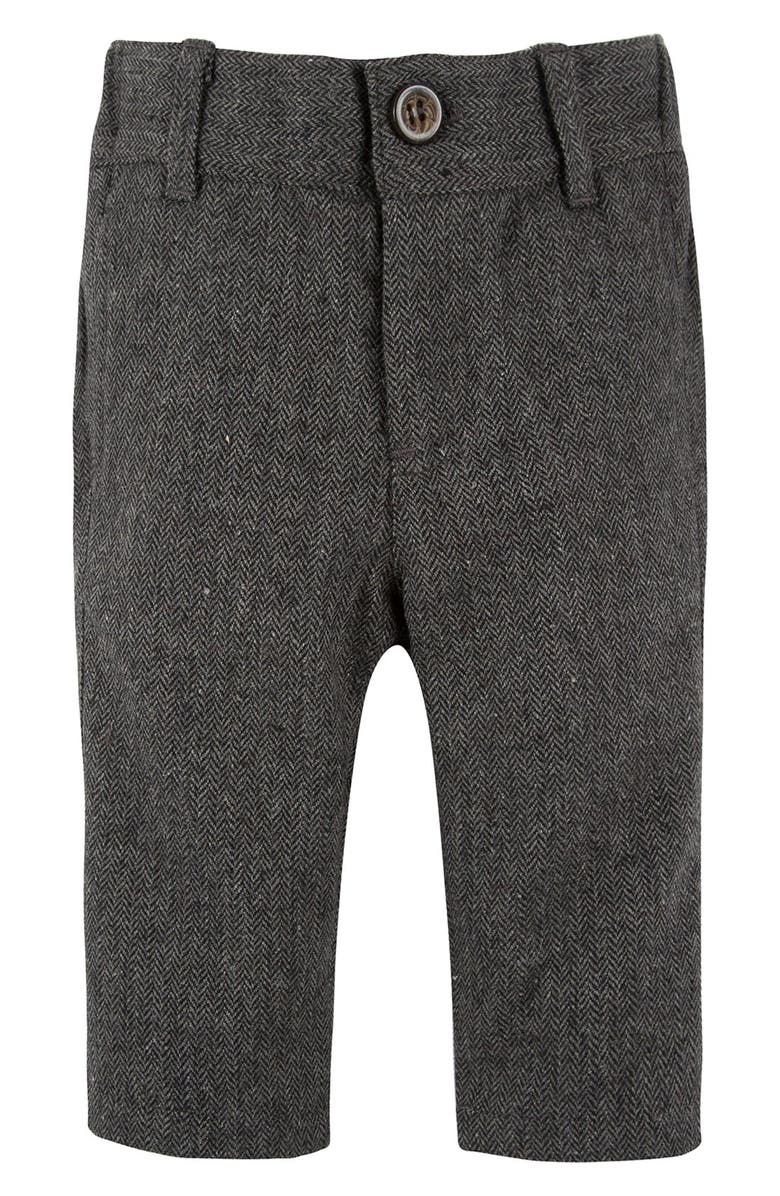 ANDY & EVAN Herringbone Suit Pants, Main, color, 006