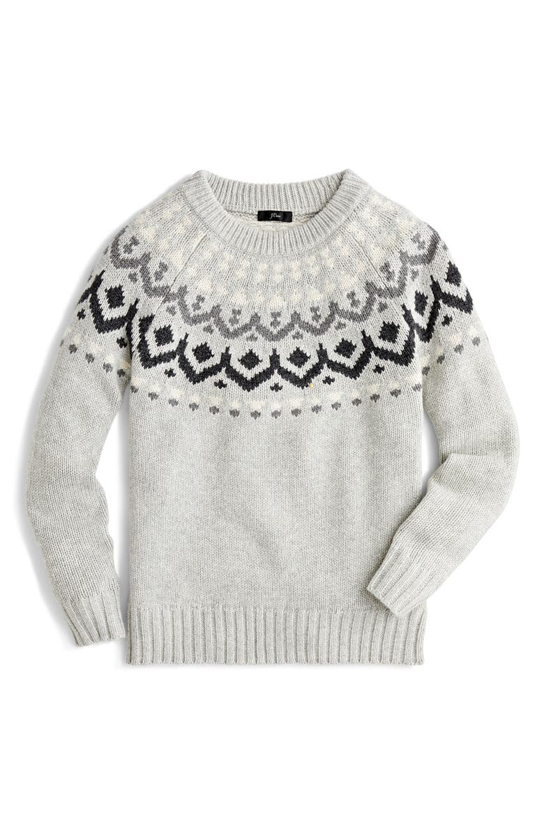 J.CREW Fair Isle Sweater, Main, color, 020