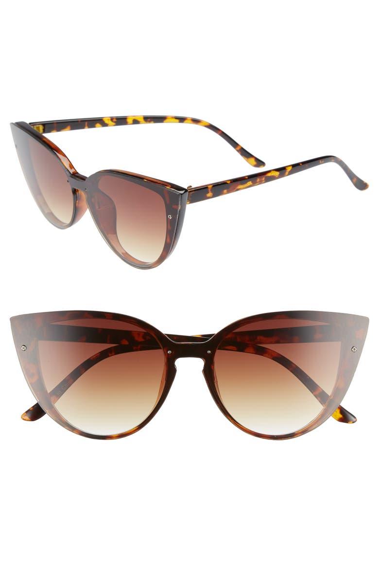 BP. 52mm Flat Cat Eye Sunglasses, Main, color, 200
