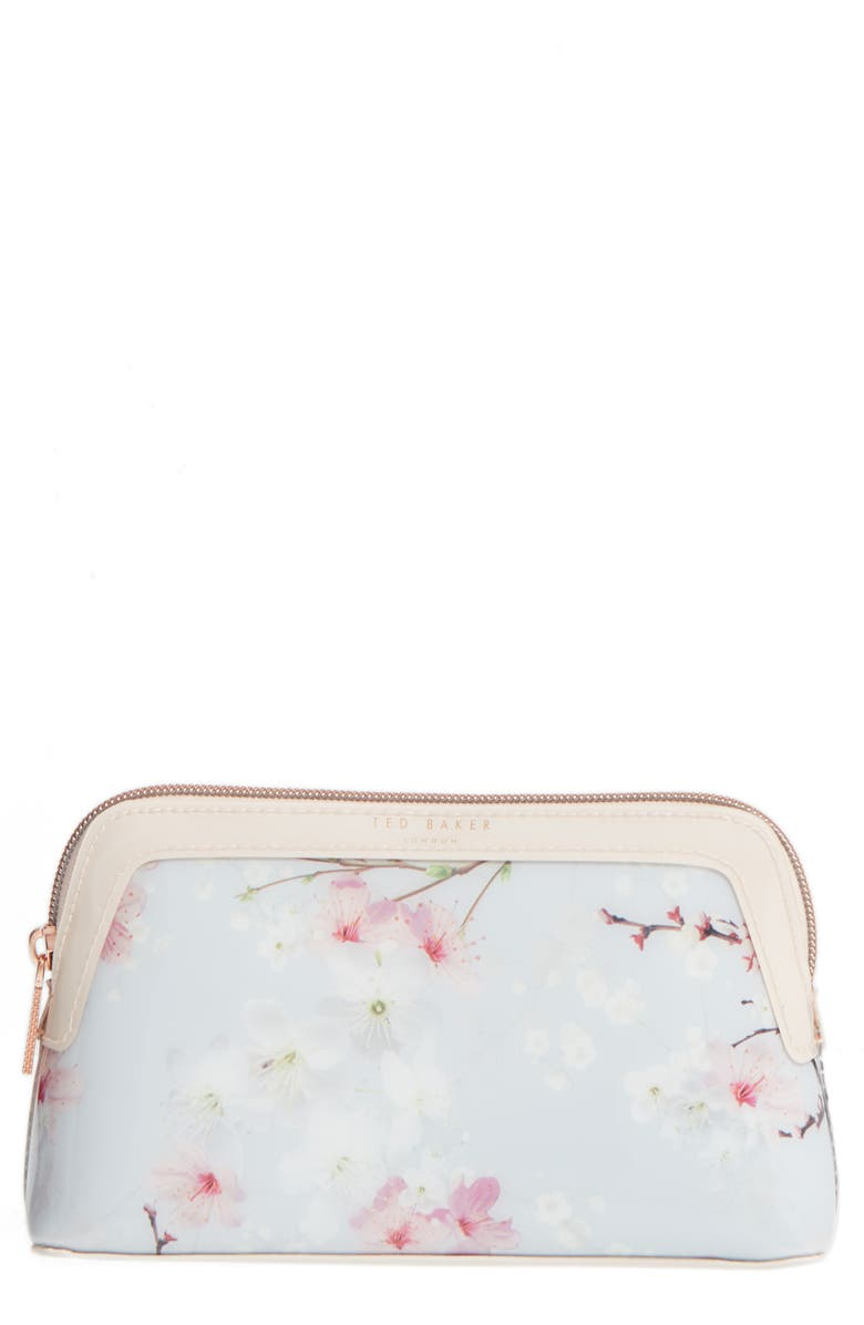 TED BAKER LONDON Cherry Blossom Cosmetics Case, Main, color, 020