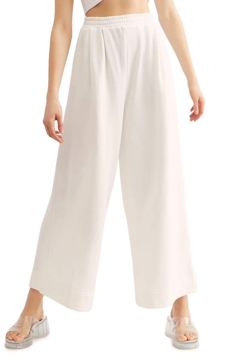 FREE PEOPLE Endless Summer by Free People Time Out Pants, Main, color, IVORY