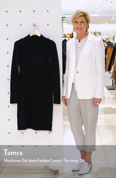 Mock Neck Long Sleeve Sweater Dress, sales video thumbnail