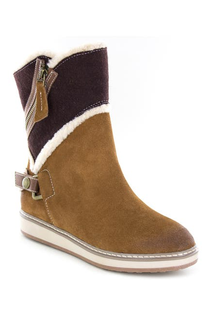 Image of White Mountain Footwear Teague Suede Faux Fur Lined Boot