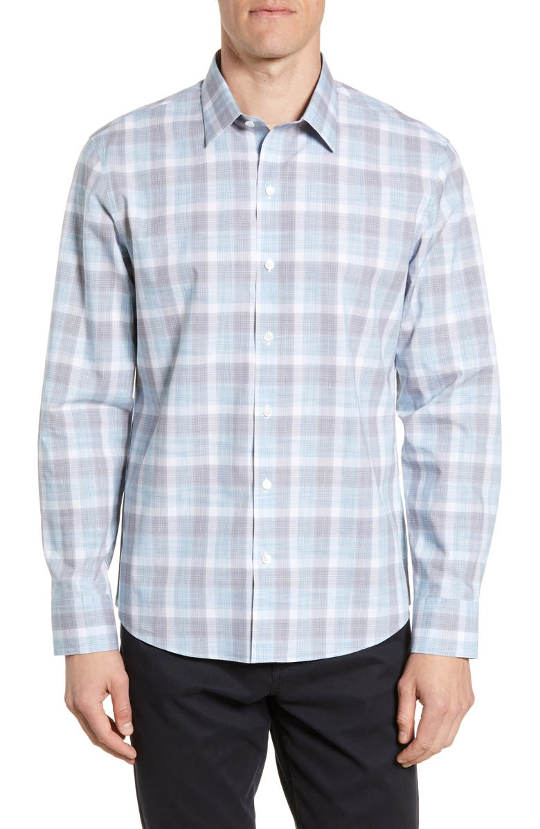 ZACHARY PRELL Jared Regular Fit Plaid Button-Up Shirt, Main, color, 300
