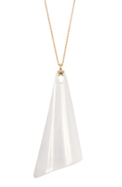 Image of Alexis Bittar Wavy Fan Pendant Necklace