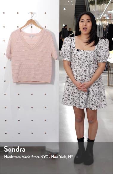 Anoushka Short Sleeve Merino Wool Sweater, sales video thumbnail