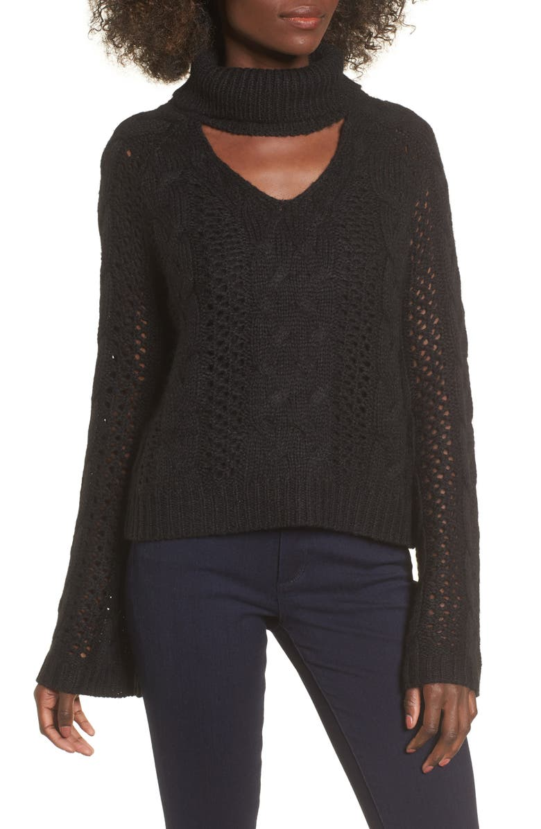 LEITH Choker Sweater, Main, color, 001