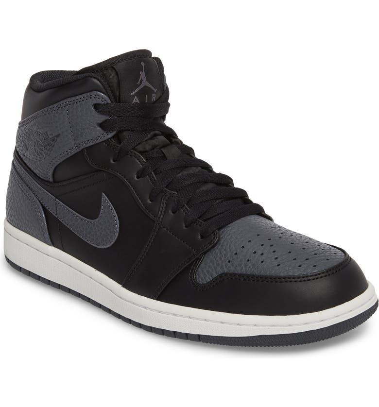 NIKE 'Air Jordan 1 Mid' Sneaker, Main, color, 001