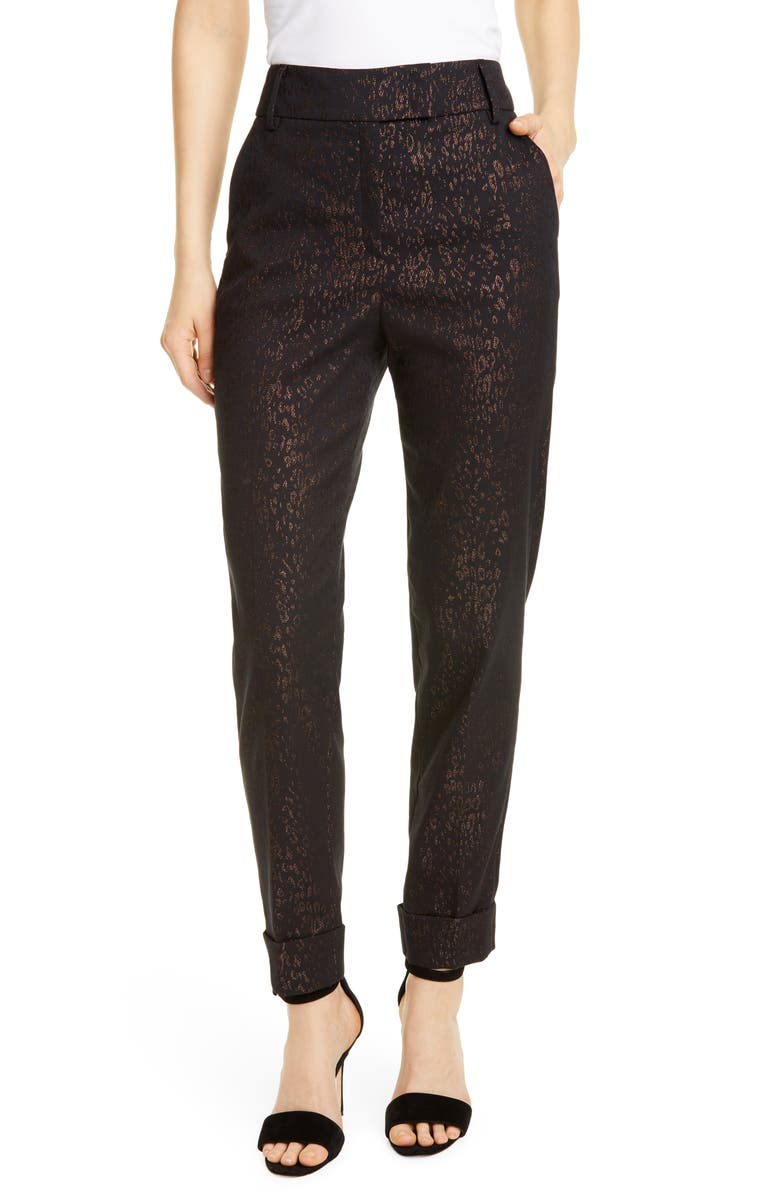SEVENTY Metallic Leopard Pants, Main, color, 200