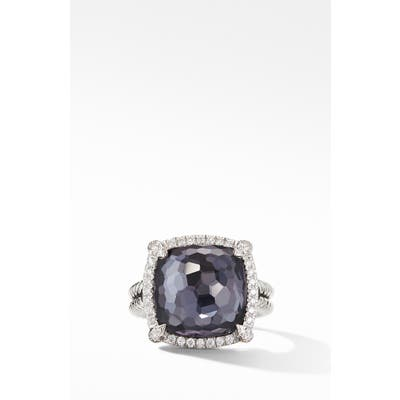 David Yurman Chatelaine Pave Bezel Black Orchid Ring