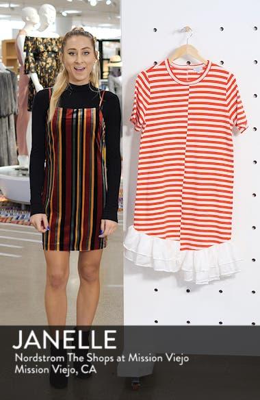 Stripe Ruffle Hem Asymmetrical Dress, sales video thumbnail