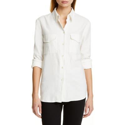 Jenni Kayne Cotton Flannel Work Shirt, Ivory