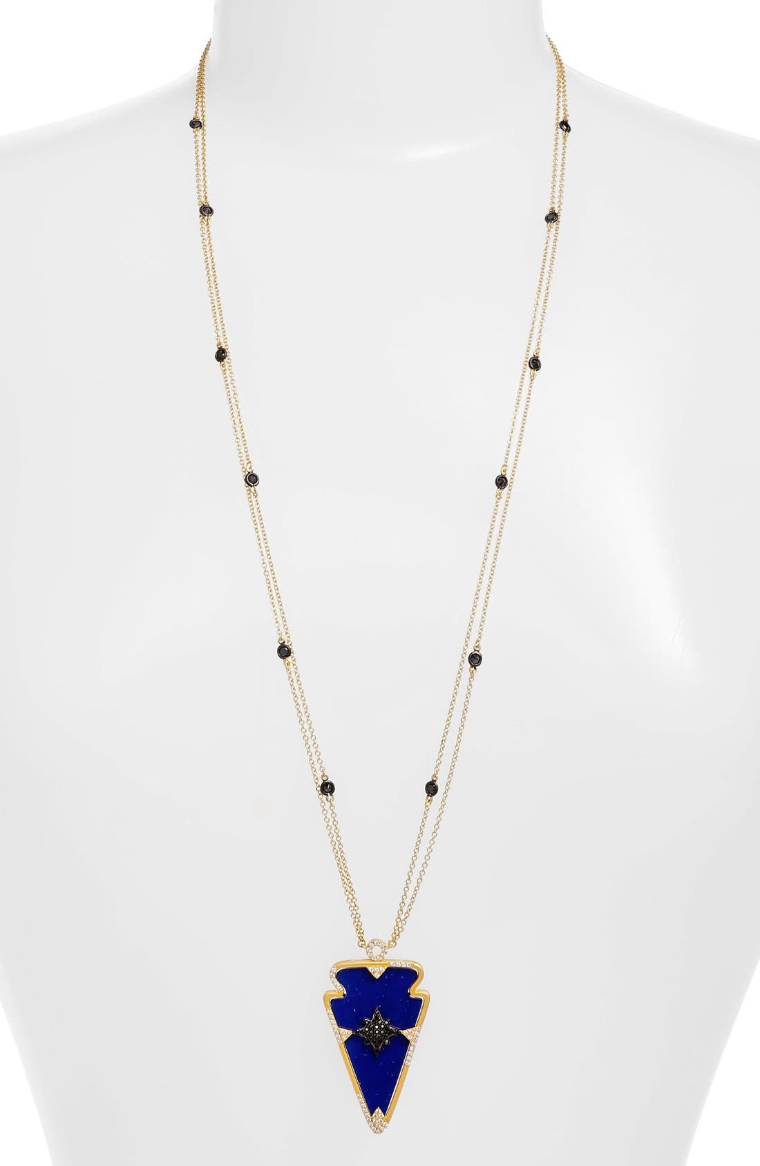 Image of Freida Rothman 'Indigo Armour' Arrow Pendant Necklace