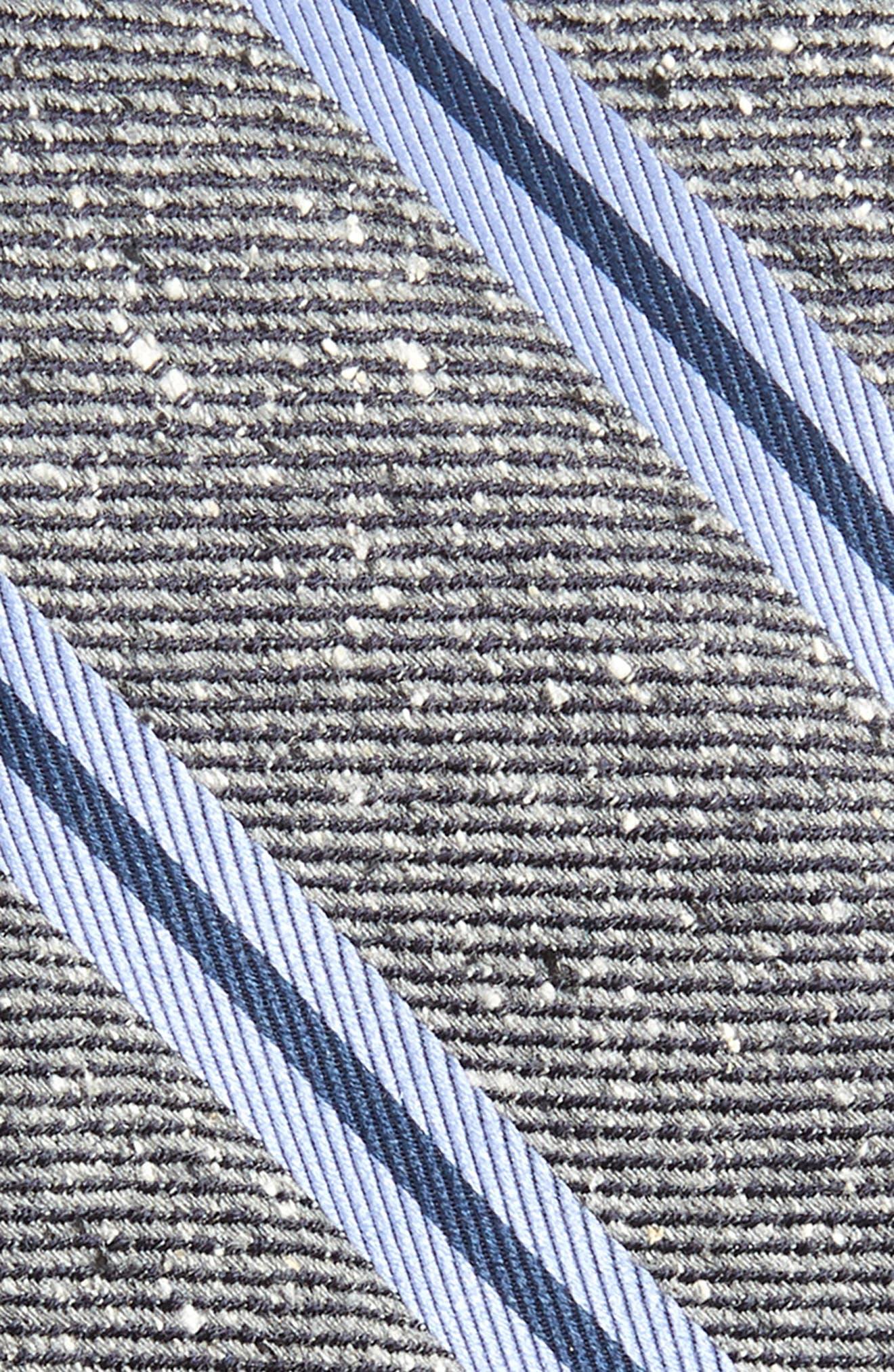 ,                             Owen Stripe Silk Tie,                             Alternate thumbnail 2, color,                             CHARCOAL