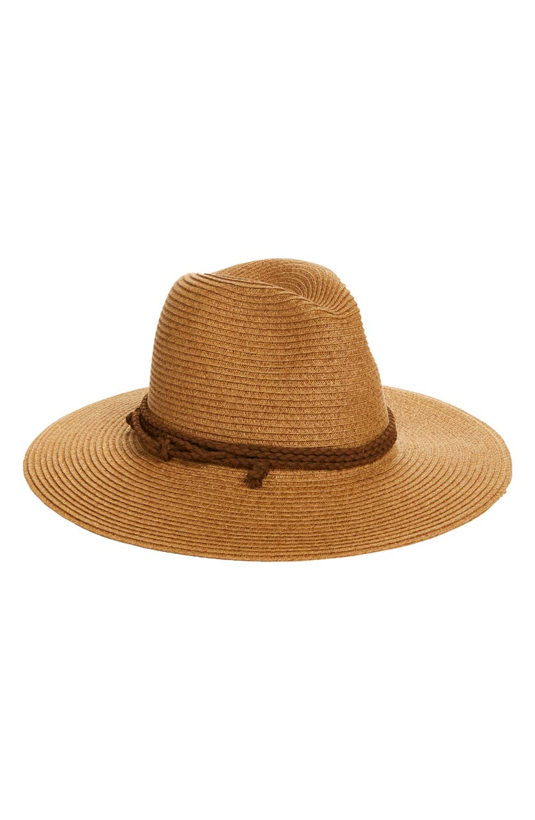 TREASURE & BOND Wide Brim Panama Hat, Main, color, 235