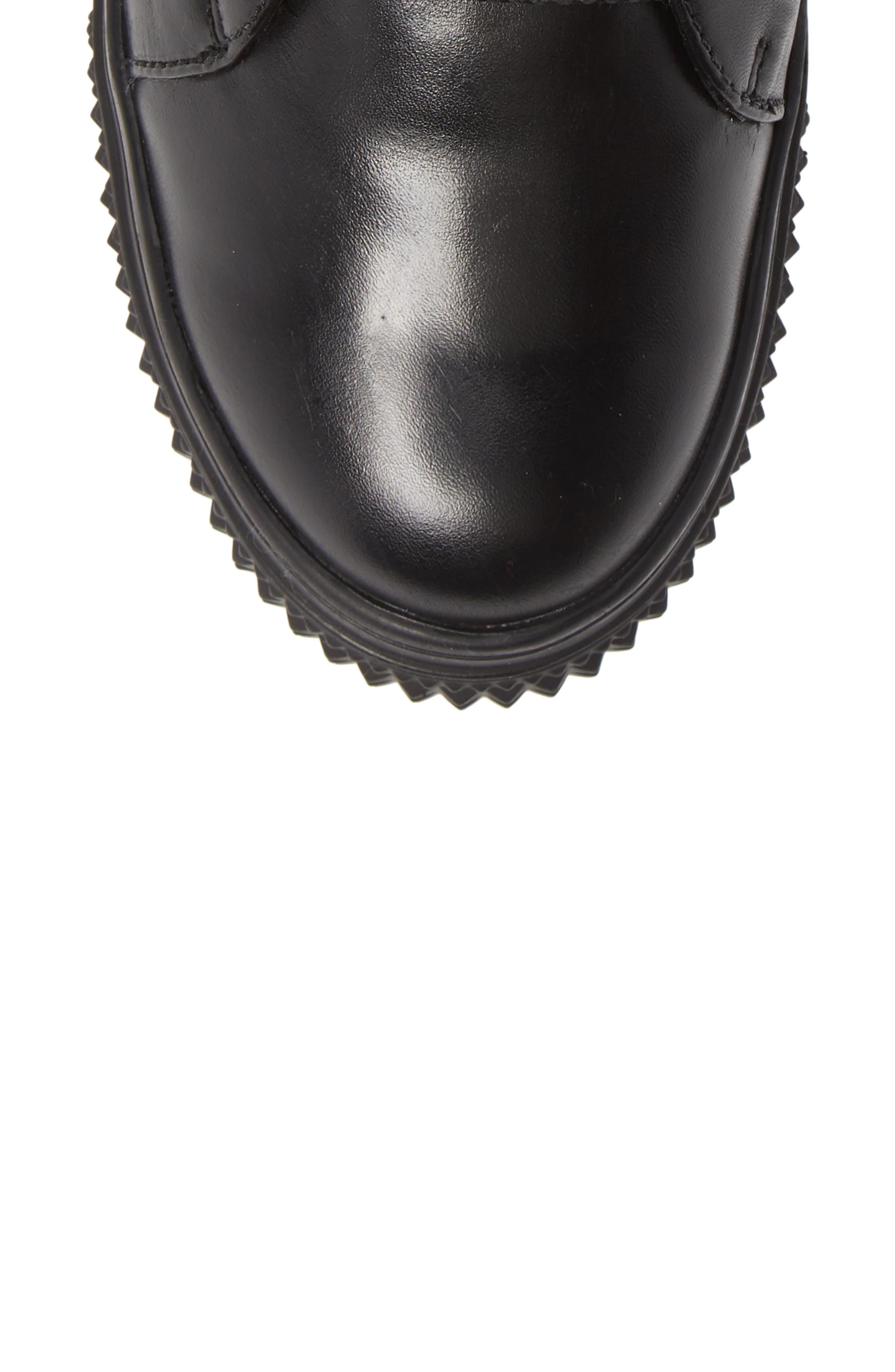 ,                             Ithaca Waterproof Sneaker Bootie,                             Alternate thumbnail 5, color,                             BLACK LEATHER