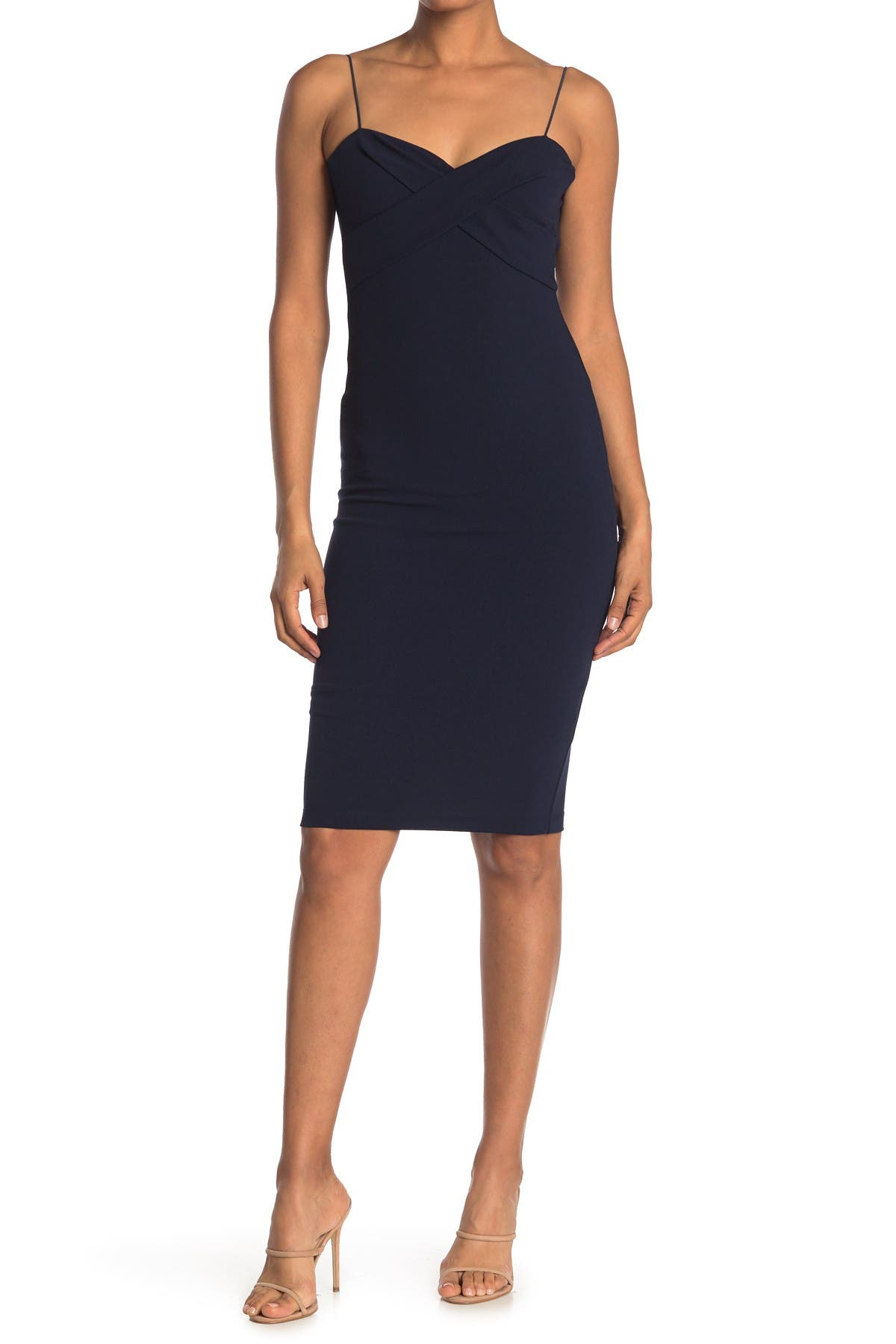 Image of Love by Design Cross Front Midi Dress