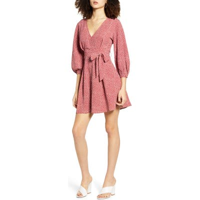 All In Favor Woven Minidress, Pink